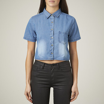 ON THE RISE SS DENIM SHIRT IN SO BLUE